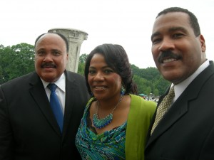 Martin III, Bernice and Dexter King at the 50th anniversary of the March on Washington (Photo by Maria Saporta)