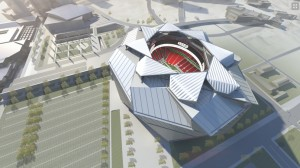 A legal challenge has been filed against Atlanta's plan to help fund construction of the Falcons stadium. Credit: newstadium.atlantafalcons.com