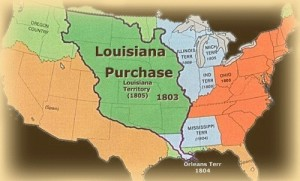 The Louisiana Purchase was much larger than the business plan for Georgia's ports. But business ventures in the Louisiana Territory were less contested than Georgia's vision. Credit: clio.missouristate.edu