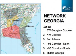 Network Georgia, the business development plan for Georgia's ports, is an ambitious outreach to draw cargo trade from six neighboring states. File/Credit: Georgia Ports Authority