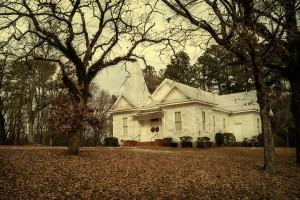 Powelton Baptist Church in Hancock County. Photograph courtesy of Scott Farrar and Historic Rural Churches of Georgia