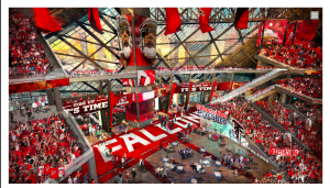 A new image from inside the stadium looking to the City Window to downtown Atlanta