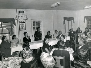 Jeanes Supervisors at an annual dinner in Atlanta. At the table on the right sits educator Benjamin Mays. Credit: Southern Education Foundation Records, Robert W. Woodruff Library Archives, Atlanta University Center