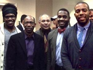 Bummah Ndeh, Ron Thomas, Michael Hodge, Don Cox, and Josh Harris.