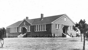 The Eleanor Roosevelt School in Warm Springs, was the last Rosenwald School to be built in the South. It was built by the WPA with funding from the Rosenwald Fund and George Foster Peabody. Credit: Hargrett Rare Book & Manuscript Library, University of Georgia