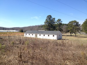 The only existing structure that remains as evidence of the Camp Toccoa paratrooper training facility.
