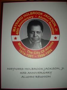 Poster for Maynard Jackson event