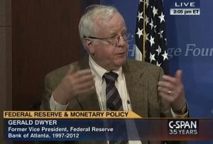 Retired Atlanta Fed Vice President Gerald Dwyer
