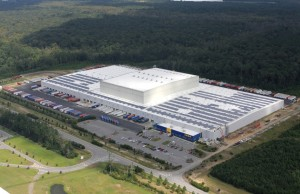 IKEA installed rooftop solar panels on its warehouse in Savannah that are capable of producing 2 million killowatts of power a year. Credit: ikea.com
