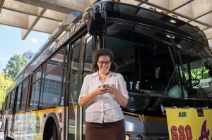 The arrival time of MARTA trains, as well as buses, is now available through an app co-founded by Georgia Tech researcher Kari Watkins. Credit: Georgia Tech