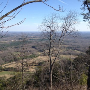 View from Currahee Mountain in north Georgia, where the paratroopers of E Company trained in the 1940s.
