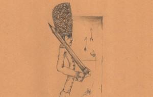 Sketch of a royal guard