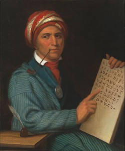 In 1821 Sequoyah invented a system of 84 to 86 characters that represented syllables in spoken Cherokee, making him the only member of an illiterate group in human history to have single-handedly devised a successful system of writing.