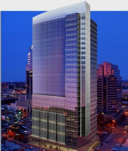 The Colorado Tower, in Austin, is the only office project Cousins Properties is developing. Credit: coloradotower.com