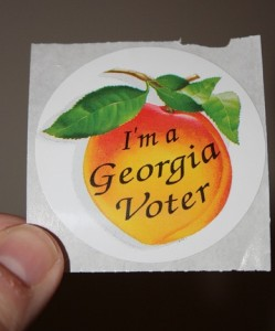 """April 21 is the deadline to register to vote in the May 20 primary election and receive the """"I'm a Georgia Voter"""" sticker."""