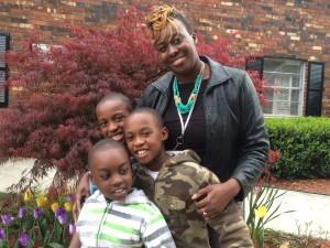 LaTawn Robinson is rearing her three boys – Elijah, 10, Nicholas, 9, and David, 7 – in southwest Atlanta. Credit: David Pendered