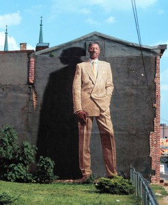 A mural of Philadelphia hero Dr. J., which has been protected for about 20 years by the community (Mural images from website)