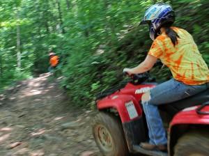 Four-wheeling at Beasley Knob National Forest near Blairsville, Ga.