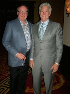 ARC Chairman Kerry Armstrong stands next to a super well-dressed Randy Hayes of Fayette, one of three people who has been on all 18 LINK trips