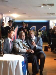 Doug Shipman, Hank Aaron and Edwin Moses