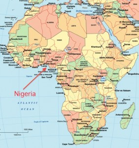 Nigeria is familiar with domestic turmoil and the situation has worsened with the kidnapping of 300 school girls by a terrorist organization. Credit: map-of-africa.us
