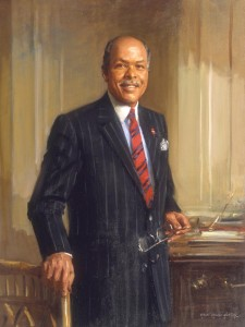 Dr. Louis W. Sullivan helped found the Morehouse School of Medicine, with a mission to increase the number of African American medical professionals in Georgia. Painting by Everett Raymond Kinstler.