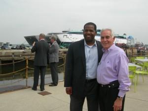 Atlanta City Council President Ceasar Mitchell and Douglas County Chairman Tom Worthan at Philadelphia Navy Yard