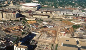 Before - The area as it was before Centennial Olympic Park (Photo courtesy of AECOM)