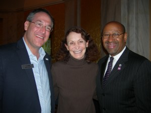 Johns Creek Mayor Mike Bodker with Jane Golden and Philadelphia Mayor Mike Nutter (Photo by Maria Saporta)