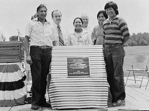 Cherokee Indian leaders at dedication of New Echota, near Calhoun, as National Historic Landmark, 1976. Credit: Georgia Archives, Vanishing Georgia Collection
