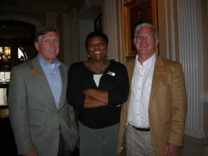 Tim Lowe of the Georgia World Congress Center Authority, Dana Lemon of the Georgia Department of Transportation board, and Roswell Mayor Jere Wood