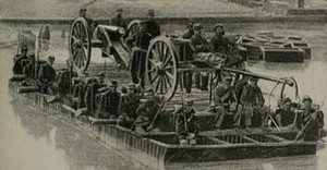 Union forces seized a pontoon bridge to cross the Chattahoochee River during the Atlanta Campaign.