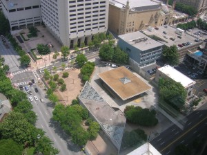 Aerial view of the North Avenue MARTA station (Courtesy of MARTA)