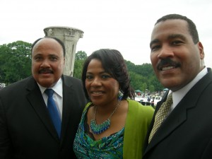 Martin Luther King III, Bernice King and Dexter King on Aug. 28 in Washington, D.C. on the 50th anniversary of the March on Washington