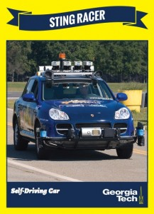 Until cars can fly, self-driving vehicles appear to be the next-bet option. This model came from a lab at Georgia Tech. Credit: cc.gatech.edu