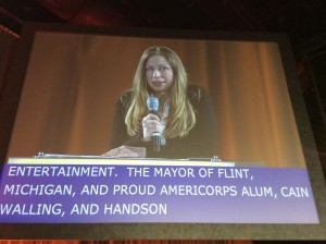 Chelsea Clinton on the big screen