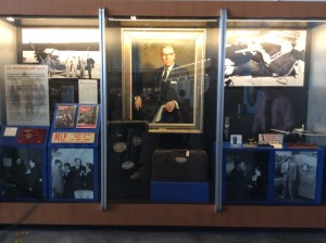 A display in honor of founder C.E. Woolman