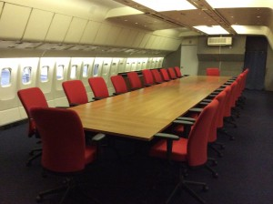 How about holding a corporate board meeting in the body of an airplane?