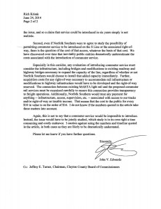 Norfolk Southern letter - page 2 (click to expand)
