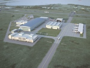 Airbus planned to build up to 50 aircraft a year at its plant in Mobile, Ala. when it released this rendering in 2012. Credit: airbus.com