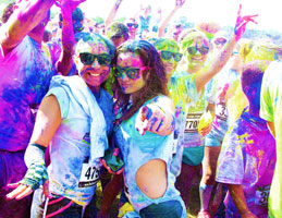 For the Color Vibe 5K participants, photo evidence says it all. (Credit Color Vibe 5K)
