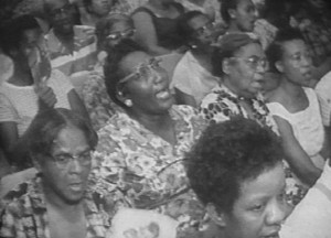 Women singing at a mass meeting in Albany, 1961. Credit: Civil Rights Digital Library, University of Georgia