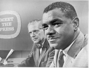 SNCC president William G. Anderson appeared on Meet the Press following the events of the Albany Movement to defend the actions of protestors.