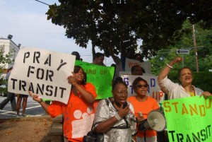 STAND UP for Transit at Tuesday's Clayton County Commission meeting (Courtesy: STAND UP)