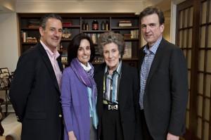 The current board of the Goizueta Foundation: (left to right): Javier Goizueta, Olga Goizueta Rawls, Olga C. de Goizueta and Roberto Goizueta