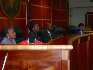 Clayton Commission meeting Saturday morning with Sonna Singleton in foreground (Photos by Maria Saporta)