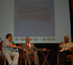 Monica Pearson guides discussion with Andrew Young and C.T. Vivian