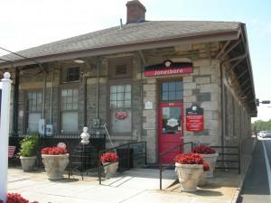 A closer view of the historic Jonesboro train station - commuter rail could revive towns along the rail corridor