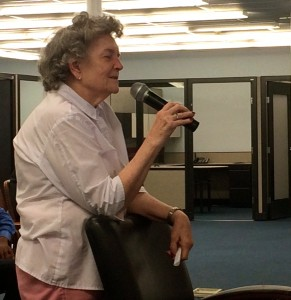 East Point resident Juanita Crater said she hopes Fort McPherson is redevelopment before the federal government finds other uses for it. Credit: Donita Pendered