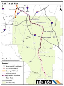 MARTA's rail plan envisions this route. The cost diffential between sharing tracks with Norfolk Southern and building tracks in the same corridor is $185 million, according to a MARTA report. Credit: MARTA
